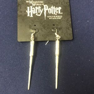 Harry Potter wand earrings. Brand new